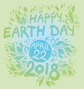 Happy Earth Day. April 22. 2018.