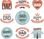 Father's Day Labels and Signs