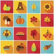 Thanksgiving Day Colorful Icons