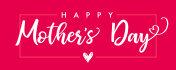 Happy Mother`s Day elegant lettering banner pink