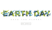 Happy Earth day typography design