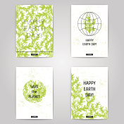 Earth day posters set.
