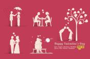 Love Valentine Day concept set
