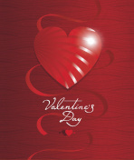 Valentine's day greeting card or poster