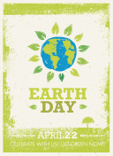 Earth Day Creative Rough Banner Concept