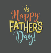 Happy Father's Day. Typography design for greeting cards, web banners. Vector Illustration.