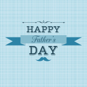 Happy Father's Day retro greeting card