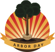 Planting a tree Arbor Day icon