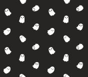 Cute cartoon ghost pattern