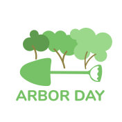Arbor day flat vector illustration