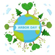 National Arbor Day concept. With an inscription