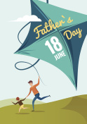 Happy Fathers Day flyer, banner or poster.