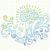 Arbor Day Sketchy Notebook Doodle Tree Vector