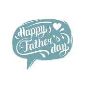 Vector Happy Fathers Day calligraphy for greeting card, festive poster etc.