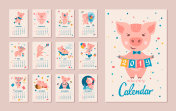 2019 Year of the PIG Calendar