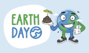 Earth Day Earth Character Holding Handful of Earth