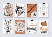 Vector set of thanksgiving holidays