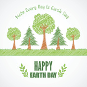 Earth Day background concept Tree design