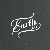 Earth Day sign design.