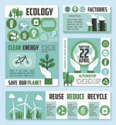 Ecology banner, Earth Day poster template design