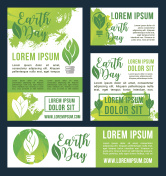 Earth Day vector green nature environment design