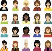 Woman avatar  set.