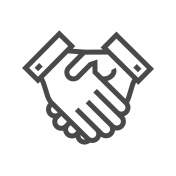 Handshake Thin Line Vector Icon