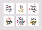 Set of postcards for the Family Day