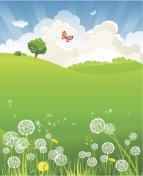 Summer landscape with dandelion