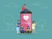 Health care mobile app concept illustration