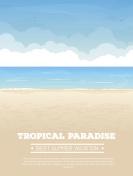 Tropical beach vacation banner