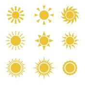Sun Color Icons Set