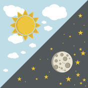 Vector illustration of day and night concept