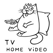 funny cat with remote control for tv. vector illustration.
