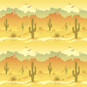 Illustrated picture of desert landscape