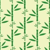 Bamboo stem seamless pattern vector illustration