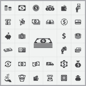 money icons universal set