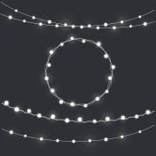 Set of garland Christmas lights