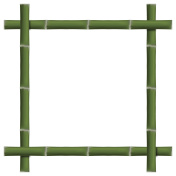Empty frame of bamboo stalks, vector illustration.