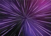 Retro Warp Star light Beams