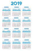 Accurate Calendar 2019.