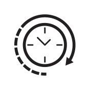 Clock icon Vector illustration, EPS10