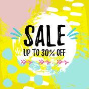 Vector illustration, Sale banner