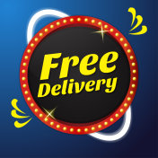 Free Delivery Vector Icon Button Design