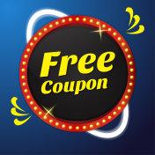 Free Coupon Vector Icon Button Design
