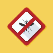 Mosquito Free Stop sign