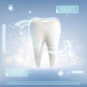 Human tooth. Whitening and treatment.