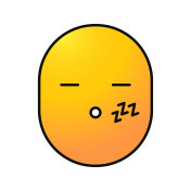 Sleeping smile icon