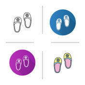 Bedroom slippers icon