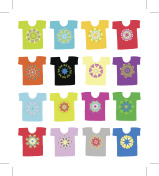 Floral ornament on white t-shirt, collection for your design